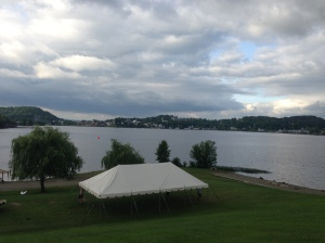 Lake Memphremagog before the start of the race . . .